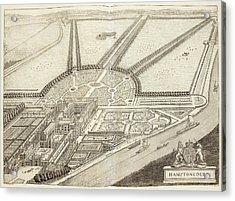 A Ground Plan Of Hampton Court Acrylic Print