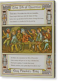 A Group Of Boys With A Guy Acrylic Print by British Library