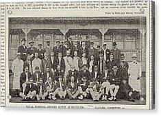 A Group Of Cricketers Acrylic Print