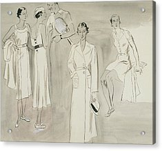 A Group Of People Wearing Tennis Wear Acrylic Print