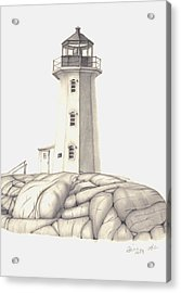 Acrylic Print featuring the drawing A Guiding Light by Patricia Hiltz