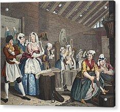 A Harlots Progress, Plate Lv Scene Acrylic Print