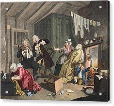 A Harlots Progress, Plate V Acrylic Print by William Hogarth