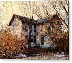 A Haunting Melody - Old Farmhouse Acrylic Print by Janine Riley
