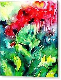 A Haze Of Poppies Acrylic Print