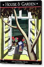 A House And Garden Cover Of A Birdcage Acrylic Print