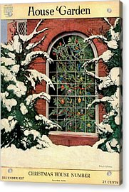 A House And Garden Cover Of A Christmas Tree Acrylic Print