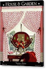 A House And Garden Cover Of A Mirror Acrylic Print
