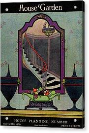 A House And Garden Cover Of A Staircase Acrylic Print