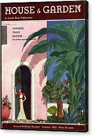 A House And Garden Cover Of A Woman In A Doorway Acrylic Print