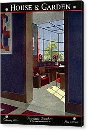 A House And Garden Cover Of An Interior Acrylic Print