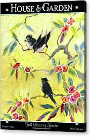 A House And Garden Cover Of Chickadees Acrylic Print