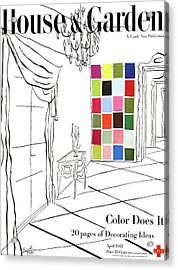 A House And Garden Cover Of Color Swatches Acrylic Print