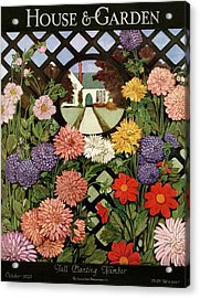 A House And Garden Cover Of Flowers Acrylic Print