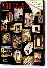 A House And Garden Cover Of House Details Acrylic Print