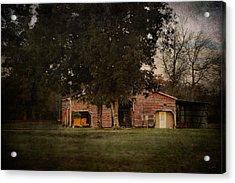 A House Or A Barn Acrylic Print by Jai Johnson