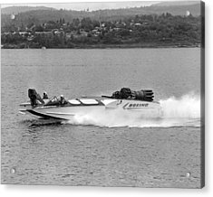 A Jet Powered Speed Boat Made By Boeing Acrylic Print by Underwood Archives