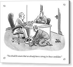 A Job Interviewer Tells An Interviewee Acrylic Print