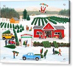 A Jolly Holly Holiday Acrylic Print