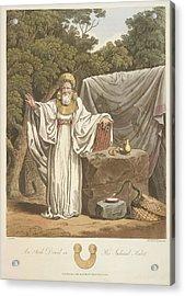 A Judicial Druid Acrylic Print by British Library