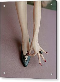 A Julianelli Shoe Acrylic Print by Richard Rutledge