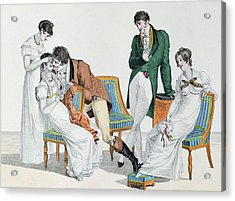A Kissing Game Acrylic Print by French School