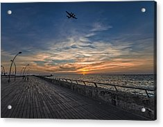 Acrylic Print featuring the photograph a kodak moment at the Tel Aviv port by Ron Shoshani