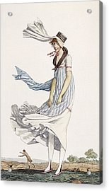 A Ladies Summer Promenade Dress, 1800 Acrylic Print