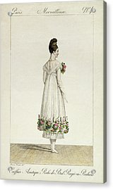 A Lady With An Asiatic Hairstyle Acrylic Print by Antoine Charles Horace Vernet