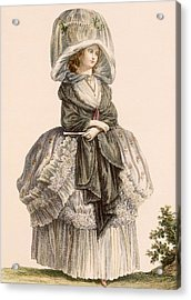 A Ladys Summer Promenade Gown, Engraved Acrylic Print