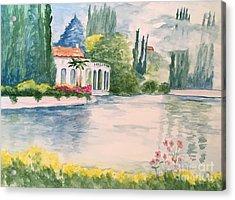 A Lake In Tuscany Acrylic Print
