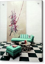 A Lanai Room With Ficks Reed Co Furniture Acrylic Print