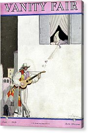 A Latin Man Serenading A Woman Acrylic Print by Georges Lepape