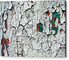 A Legacy In Peeling Paint Acrylic Print by Robert Knight