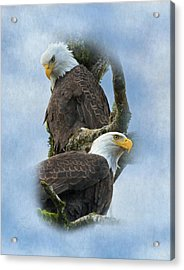 A Life-long Bond Acrylic Print by Angie Vogel
