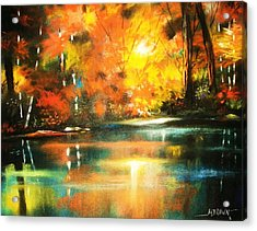 A Light In The Forest Acrylic Print