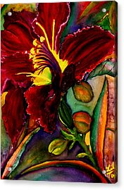 A Lily A Day Acrylic Print by Lil Taylor