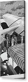 A Lindbergh Airplane In The Arizona Desert Acrylic Print