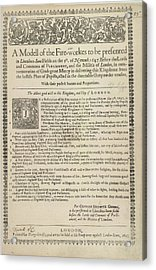 A List Of Fireworks Acrylic Print by British Library