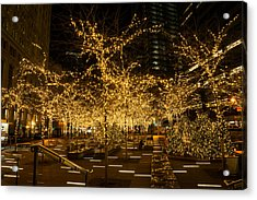 A Little Golden Garden In The Heart Of Manhattan New York City Acrylic Print