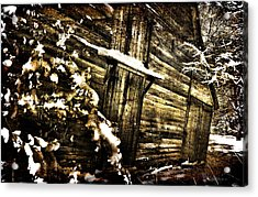 A Little Snow In Sc Acrylic Print