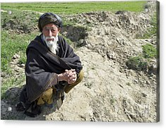 A Local Afghan Man Near A Village Acrylic Print by Stocktrek Images