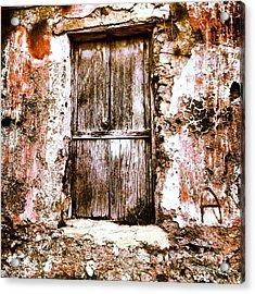 A Locked Door Acrylic Print by H Hoffman