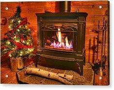 A Log Cabin Christmas Acrylic Print by Heather Allen