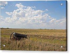 A Long The Field Acrylic Print