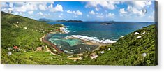 John's Folly Bay From Tradewinds Cottage In St. John Usvi Acrylic Print