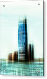A Look To New Jersey II - Steel Acrylic Print by Hannes Cmarits