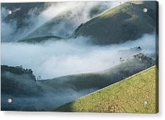 A Low-hanging Mist In The Early Morning Acrylic Print