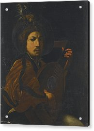 A Lute Player Acrylic Print by Celestial Images