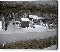 A Mabry Mill Winter Acrylic Print